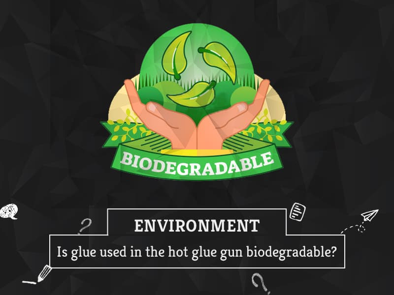 Is glue used in the hot glue gun biodegradable by GreenSutra